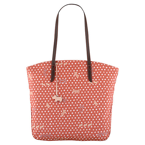Buy Radley Hibbert Large Ziptop Tote Bag, Coral Online at johnlewis.com