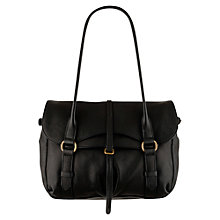 Buy Radley Grosvenor Medium Flapover Shoulder Handbag, Black Online at johnlewis.com
