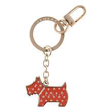 Buy Radley Hilbert Heart and Dots Key Ring, Coral Online at johnlewis.com