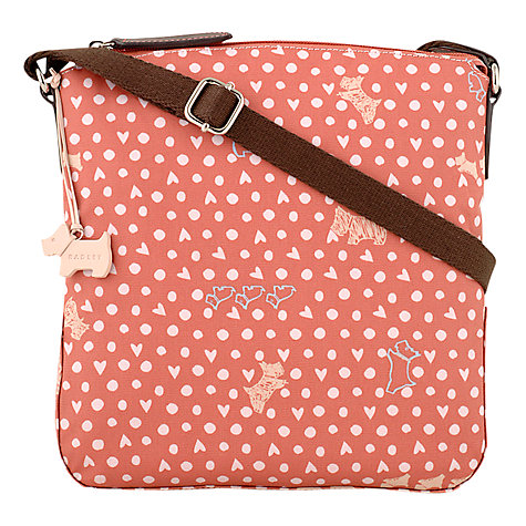 Buy Radley Hibbert Medium Ziptop Cross Body, Pink Online at johnlewis.com
