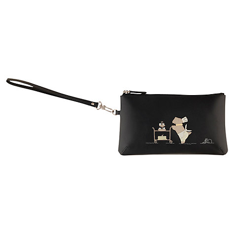 Buy Radley Patisserie Wristlet Leather Purse, Black Online at johnlewis.com