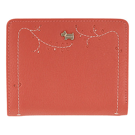 Buy Radley Little Laurels Medium Leather Purse Wallet, Pink Online at johnlewis.com
