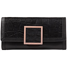 Buy Ted Baker Mamilla Exotic Square Purse, Black Online at johnlewis.com