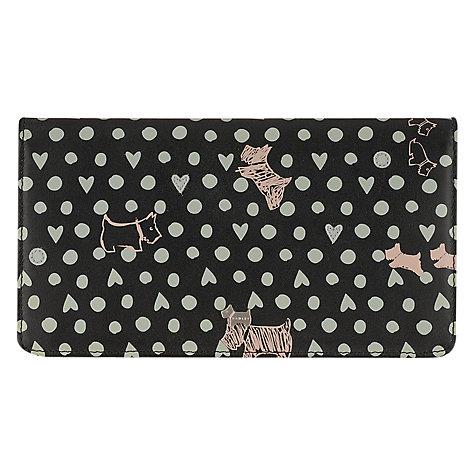 Buy Radley Dog N Spot Large Matinee Wallet, Black Online at johnlewis.com