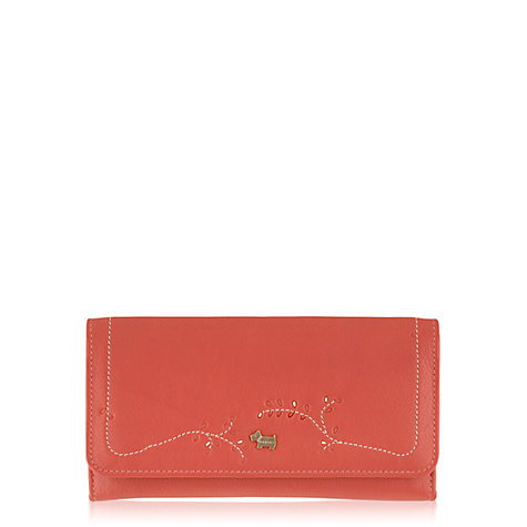 Buy Radley Little Laurels Large Trifold Leather Matinee Wallet, Coral Online at johnlewis.com