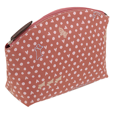Buy Radley Hibbert Large Ziptop Cosmetic Case, Pink Online at johnlewis.com
