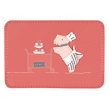 Buy Radley Patisserie Leather Card Holder, Pink Online at johnlewis.com
