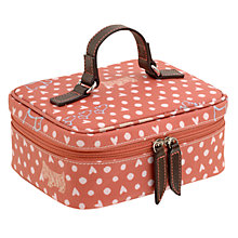 Buy Radley Hibbert Small Ziptop Cosmetic Case, Pink Online at johnlewis.com