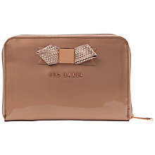 Buy Ted Baker Zicon Metallic Bow Mini Tablet Case, Rose Gold Online at johnlewis.com