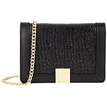 Buy Ted Baker Ruelles Exotic Clutch Bag, Black Online at johnlewis.com