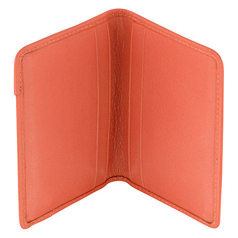 Buy Radley Pocket Bag Leather Card Holder, Coral Online at johnlewis.com