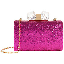 Buy Ted Baker Karsie Glitter Hardcase Clutch Bag Online at johnlewis.com