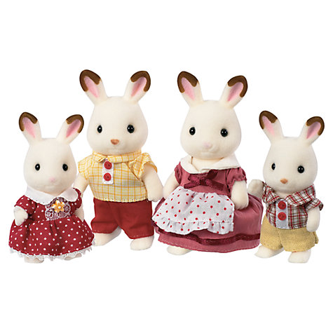Buy Sylvanian Families Chocolate Rabbit Family Online at johnlewis.com