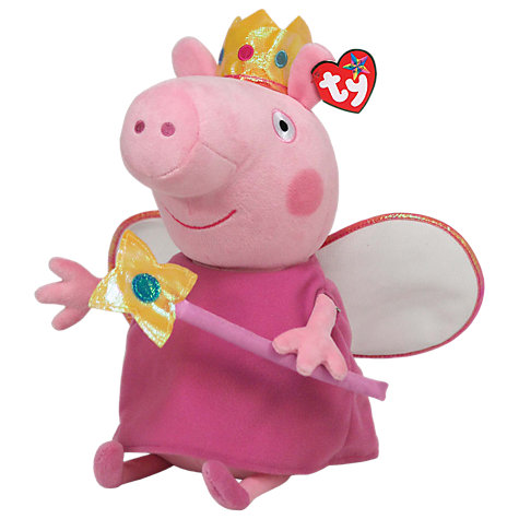 Buy Ty Peppa Pig Princess Beanie Baby, 33cm Online at johnlewis.com