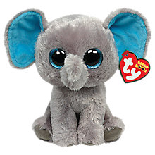 Buy Ty Beanie Boo Peanut Elephant Soft Toy, 18cm Online at johnlewis.com
