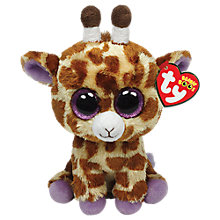 Buy Ty Beanie Boo Safari Giraffe Soft Toy, 18cm Online at johnlewis.com