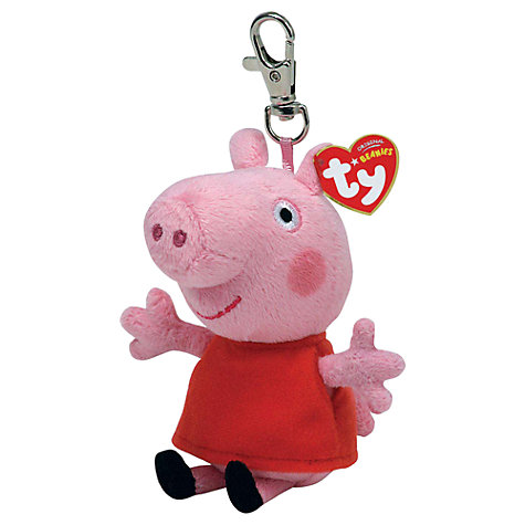 Buy Ty Peppa Pig Soft Toys Clips, Assorted Online at johnlewis.com