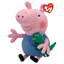 Buy Ty Peppa Pig George Beanie Baby, 15cm Online at johnlewis.com