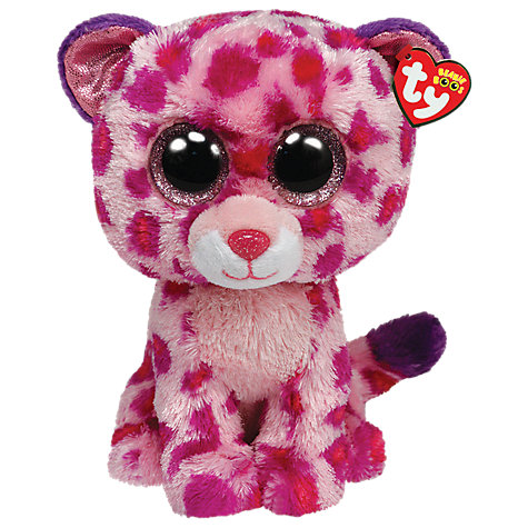Buy Ty Beanie Boos Glamour Leopard Soft Toy, 25cm Online at johnlewis.com