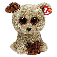 Buy Ty Beanie Boo Rootbeer Terrier Soft Toy, 18cm Online at johnlewis.com