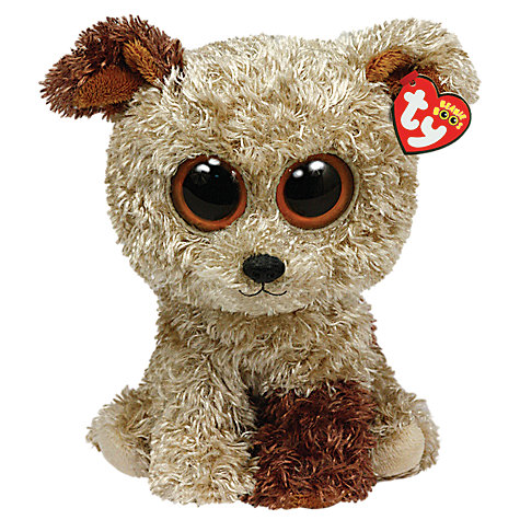 Buy Ty Beanie Boo Rootbeer Terrier Soft Toy, 25cm Online at johnlewis.com