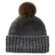 Buy Warehouse Pom Pom Hat, Dark Grey Online at johnlewis.com