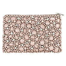Buy Coast Bobbi Beaded Pouch, Neutral Online at johnlewis.com