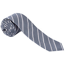 Buy BOSS Striped Tie, Blue Online at johnlewis.com