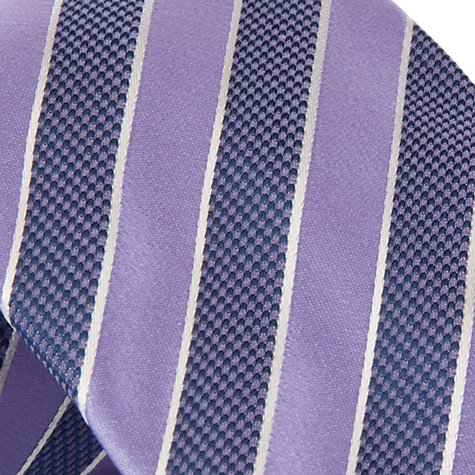 Buy Boss Black Stripe Silk Tie, Purple Online at johnlewis.com