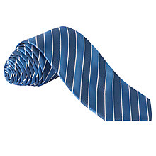 Buy BOSS Stripe Silk Tie, Blue Online at johnlewis.com