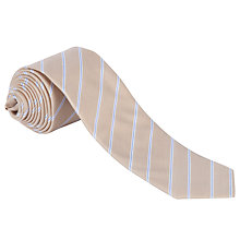 Buy BOSS Striped Tie, Beige Online at johnlewis.com