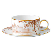Buy Wedgwood Palladian Accent Tea Cup & Saucer Online at johnlewis.com