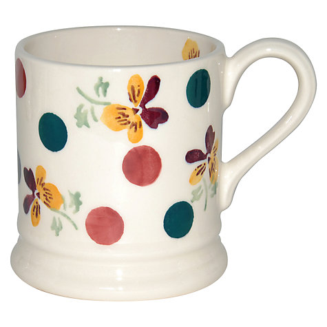Buy Emma Bridgewater Polka Pansy Mug, 0.3L Online at johnlewis.com