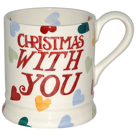 Buy Emma Bridgewater Hearts Christmas With You Mug, 0.3L Online at johnlewis.com