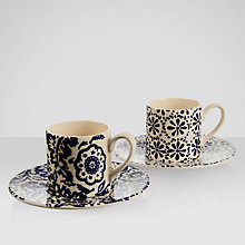 Buy Emma Bridgewater Starry Skies Espresso Cup & Saucers, Set of 2 Online at johnlewis.com