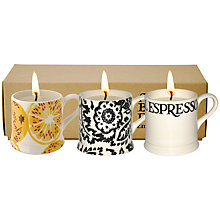 Buy Emma Bridgewater Black Toast & Marmalade Candle Mugs, Set of 3 Online at johnlewis.com