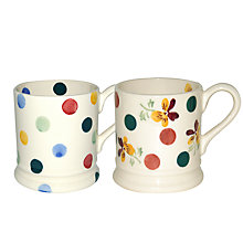Buy Emma Bridgewater Polka Dot & Polka Pansy Mugs, Set of 2 Online at johnlewis.com