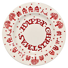 Buy Emma Bridgewater Christmas Town Plate, Dia.22cm Online at johnlewis.com