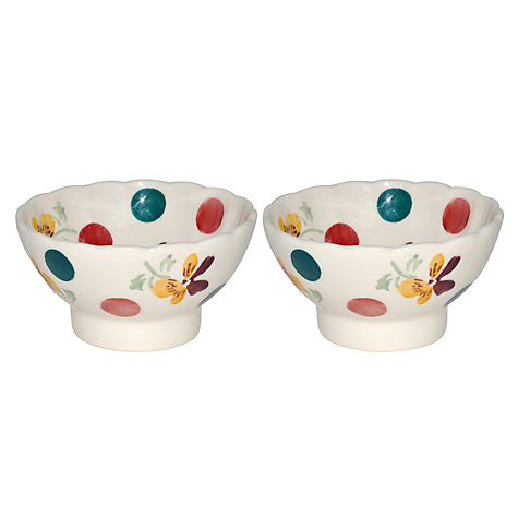 Buy Emma Bridgewater Polka Pansy Bowls, Set of 2 Online at johnlewis.com