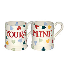 Buy Emma Bridgewater Yours & Mine Mugs, Set of 2 Online at johnlewis.com