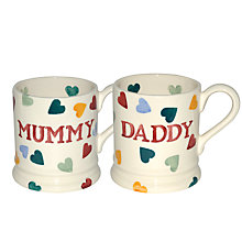 Buy Emma Bridgewater Polka Hearts Mum & Dad Mugs, Set of 2 Online at johnlewis.com