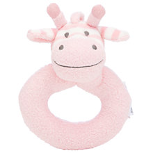 Buy John Lewis Giraffe Ring Rattle, Pink Online at johnlewis.com