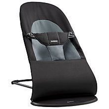 Buy BabyBjörn Soft Bouncer, Black/Grey Online at johnlewis.com