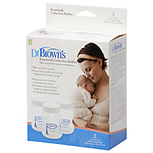 Buy Dr Brown's Breast Milk Collection Bottles, Pack of 3 Online at johnlewis.com