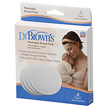 Buy Dr Brown's Washable Breast Pads Online at johnlewis.com