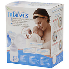 Buy Dr Brown's Manual Breast Pump Online at johnlewis.com