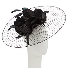 Buy Snoxells Myhat Dani Open Veil Disc Fascinator, Black Online at johnlewis.com