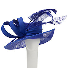 Buy Snoxells Myhat Alice Side Up Occasion Hat, Cobalt Online at johnlewis.com