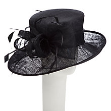 Buy John Lewis Fion Medium Side Up Occasion Hat, Black Online at johnlewis.com