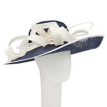 Buy John Lewis Braid Side Up Occasion Hat, Navy/Ivory Online at johnlewis.com